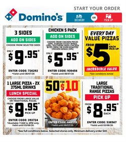 Restaurants offers in the Domino's Pizza catalogue in Adelaide SA ( Expires today )