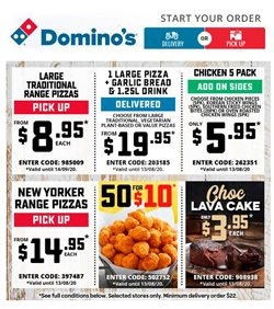 Domino's Pizza catalogue in Young NSW ( Expires today )