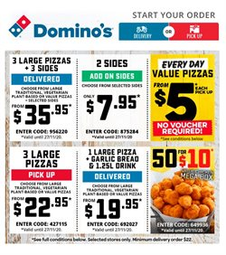 Domino's Pizza catalogue ( Expires today )