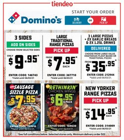 Restaurants offers in the Domino's Pizza catalogue ( Expires today )