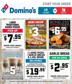 Domino's Pizza specials in the Domino's Pizza catalogue ( Expired)