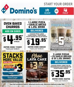 Domino's Pizza specials in the Domino's Pizza catalogue ( Expires today)