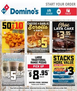 Restaurants specials in the Domino's Pizza catalogue ( Expires today)