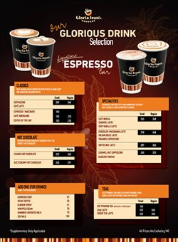 Restaurants offers in the Gloria Jean's Coffees catalogue in Moss Vale NSW