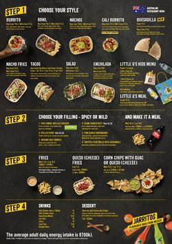 Restaurants specials in the Guzman y Gomez catalogue ( More than one month)