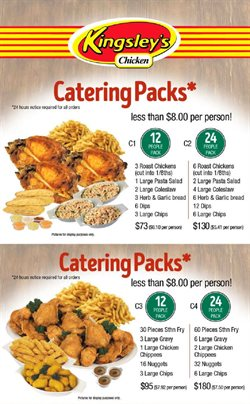 Offers from Kingsley's Chicken in the Canberra ACT catalogue