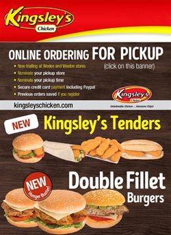 Kingsley's Chicken catalogue ( Expired )