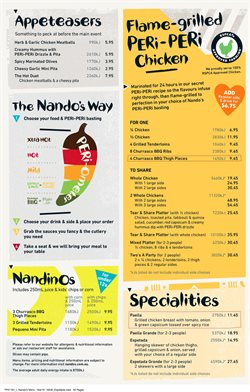 Offers from Nando's in the Sydney NSW catalogue