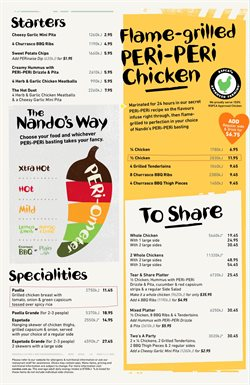Restaurants offers in the Nando's catalogue in Helensburgh NSW