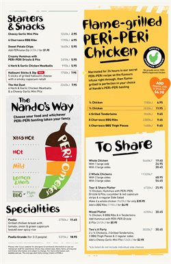 Restaurants offers in the Nando's catalogue in Melbourne VIC