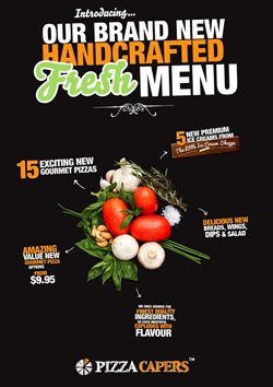 Restaurants offers in the Pizza Capers catalogue in Newcastle NSW