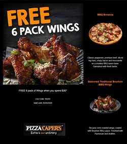 Restaurants offers in the Pizza Capers catalogue in Hobart TAS ( Expires today )