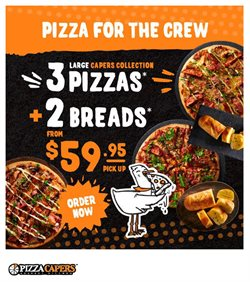 Restaurants offers in the Pizza Capers catalogue in Sydney NSW ( Published today )