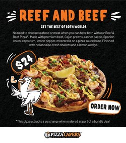 Restaurants specials in the Pizza Capers catalogue ( Expires today)