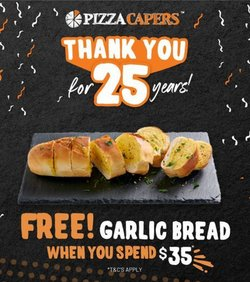 Restaurants specials in the Pizza Capers catalogue ( 8 days left)