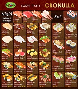 Offers from Sushi Train in the Sydney NSW catalogue