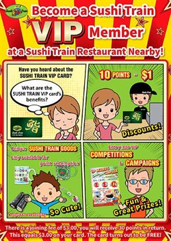 Sushi Train catalogue ( 2 days left )