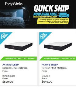 Forty Winks specials in the Forty Winks catalogue ( 2 days left)