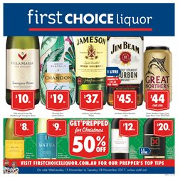 Offers from First Choice Liquor in the Melbourne VIC catalogue