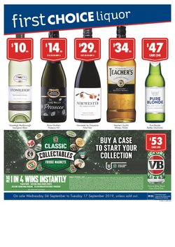 First Choice Liquor catalogue ( Expired )
