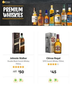 Supermarkets specials in the First Choice Liquor catalogue ( Expires today)