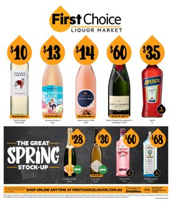 First Choice Liquor specials in the First Choice Liquor catalogue ( Published today)