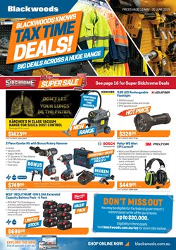Offers from Blackwoods in the BIBRA WA catalogue