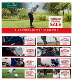 Offers from Drummond Golf in the Glen Eira VIC catalogue