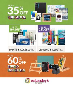 Books & Hobby specials in the Eckersley's Art & Craft catalogue ( 2 days left)