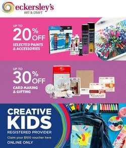 Books & Hobby specials in the Eckersley's Art & Craft catalogue ( Expires today)