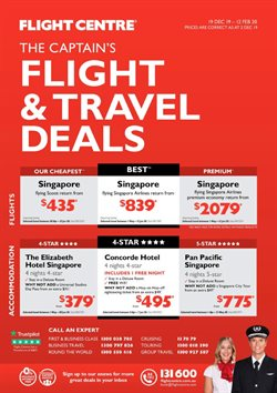 Travel & Leisure offers in the Flight Centre catalogue in Sydney NSW