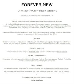 Forever New catalogue ( Expires tomorrow )