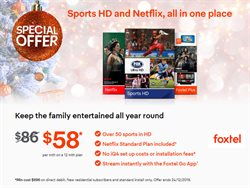Offers from Foxtel in the Sydney NSW catalogue