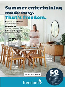 Offers from Freedom in the Brisbane QLD catalogue