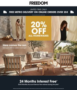 Homeware & Furniture specials in the Freedom catalogue ( 12 days left)