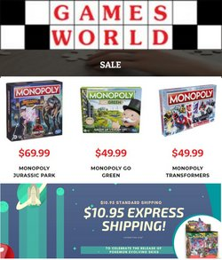 Games World specials in the Games World catalogue ( 9 days left)