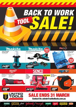 DIY & Garden offers in the United Tools catalogue in Sydney NSW ( 26 days left )
