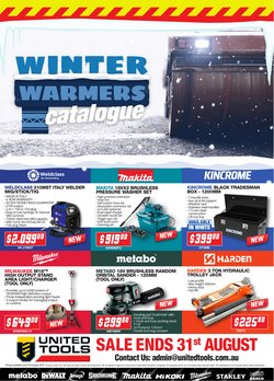 DIY & Garden specials in the United Tools catalogue ( More than one month)