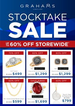 Grahams Jewellers specials in the Grahams Jewellers catalogue ( 28 days left)