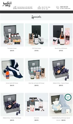 Offers from Hampers Only in the Sydney NSW catalogue