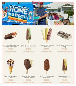 Christmas specials in the Home Ice Cream catalogue ( More than one month)