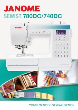Janome catalogue ( More than one month)