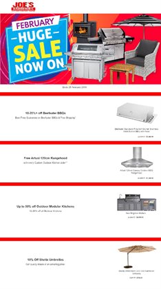 Offers from Joe's BBQs in the Sydney NSW catalogue