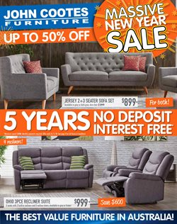Offers from John Cootes Furniture in the Sydney NSW catalogue