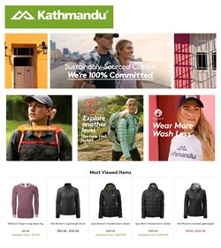 Sport offers in the Kathmandu catalogue in Hobart TAS