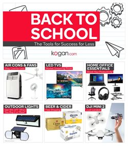 Back To School specials in the Kogan catalogue ( 8 days left)