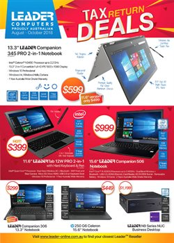Electronics & Appliances offers in the Leader Computers catalogue in Swan Hill VIC