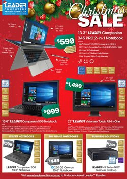 Offers from Leader Computers in the Adelaide SA catalogue