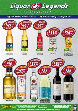 Valentine's Day specials in the Liquor Legends catalogue ( Published today)