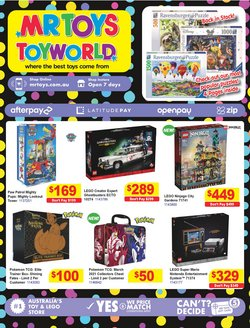 Mr Toys specials in the Mr Toys catalogue ( Expired)